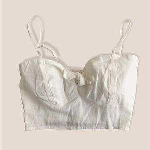 Cropped Cami Tank. Linen collection Camisole
